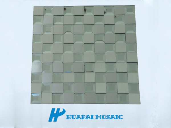 glass mix metal mosaic