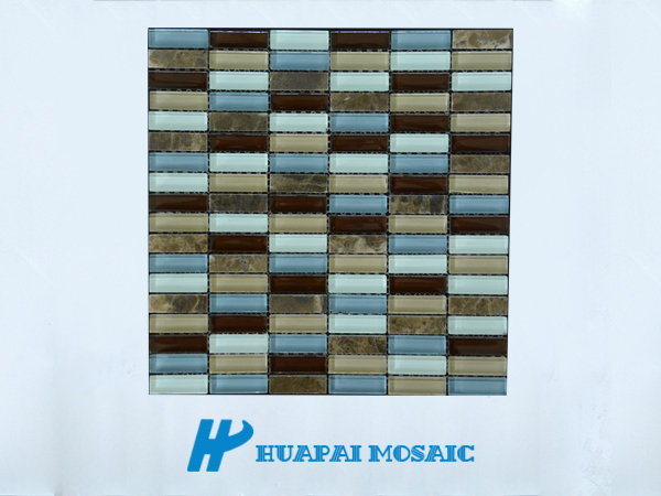 glass mix marble mosaic